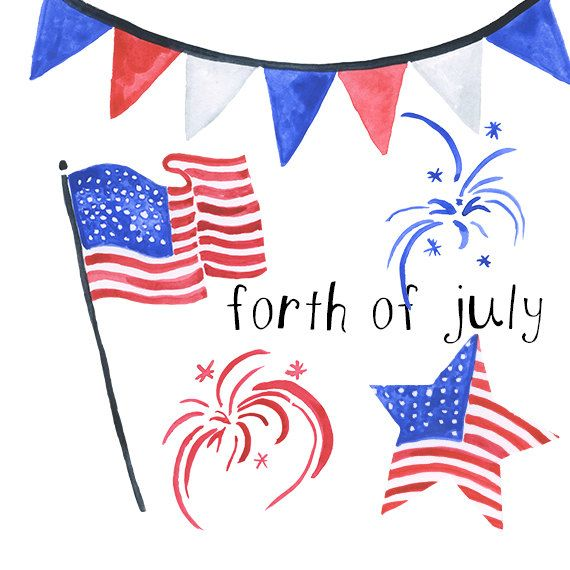 American Flag clipart staes Clipart  Best 4th on
