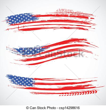 American Flag clipart banner  of csp14298616 American Flag