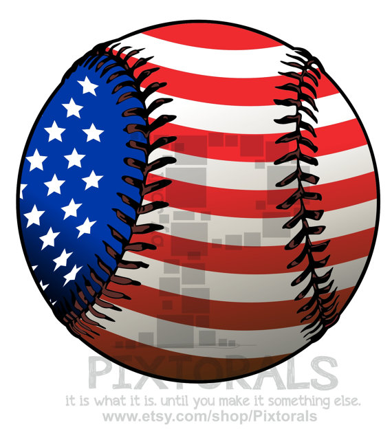 American Flag clipart baseball Clipart backgrounds) from Etsy PNG