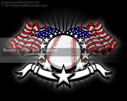 American Flag clipart baseball Art Sports Clip Team Stripes