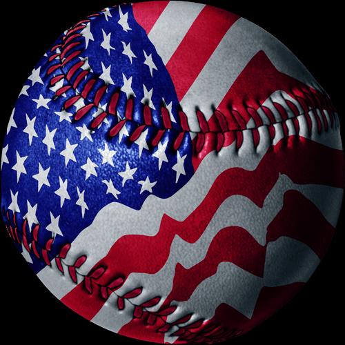 Baseball clipart american flag #6