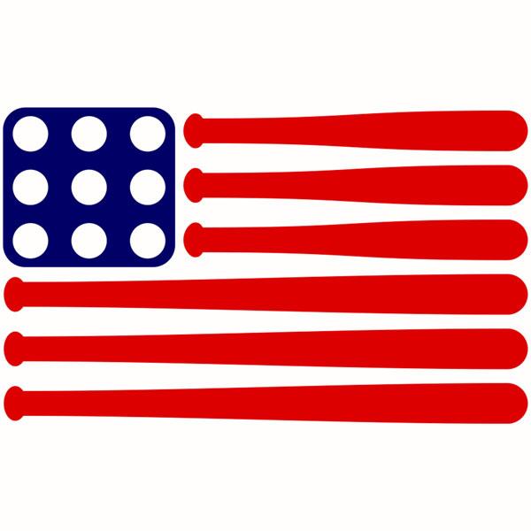 Baseball clipart american flag #7