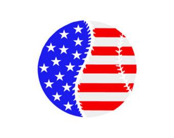 Baseball clipart american flag #13