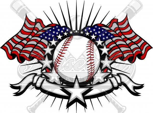 American Flag clipart baseball Clipart Baseball and Clipart for