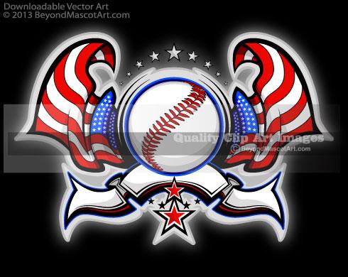 American Flag clipart baseball Art Flag Art Baseball Clip