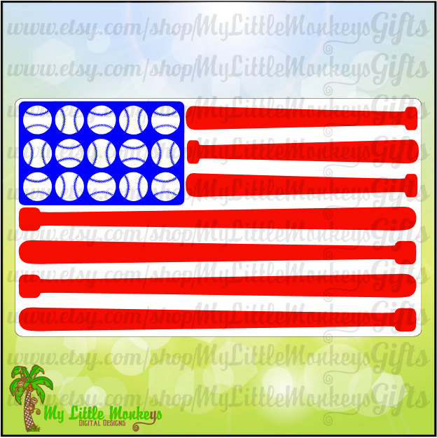 Baseball clipart american flag #8