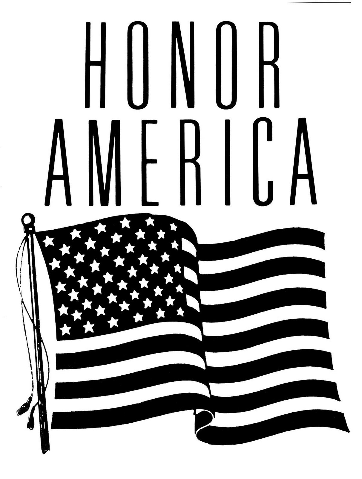 American Flag clipart black and white Cliparting photos white clipart black