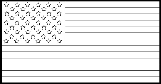 American Flag clipart black and white Free Flags Clipart American