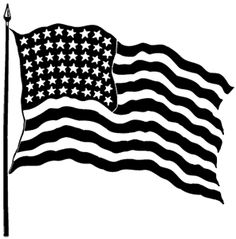 American Flag clipart black and white Flag Clip White – American