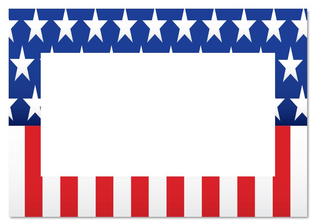 American Flag clipart border Border clip art american flag