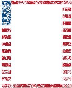 American Flag clipart border Picture  Statue Stock Border