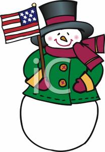 American Flag clipart christmas Free Picture Clipart Royalty American