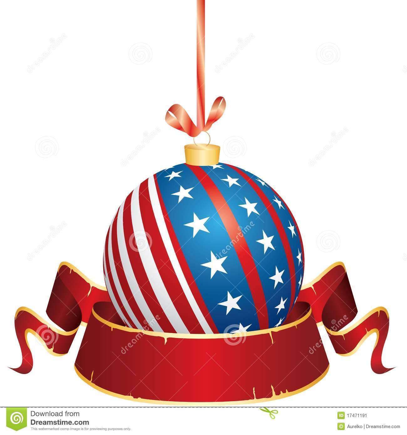 American Flag clipart christmas Art christmas clip clipart Patriotic