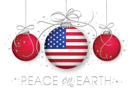 American Flag clipart christmas Cards Christmas American Flag Patriotic