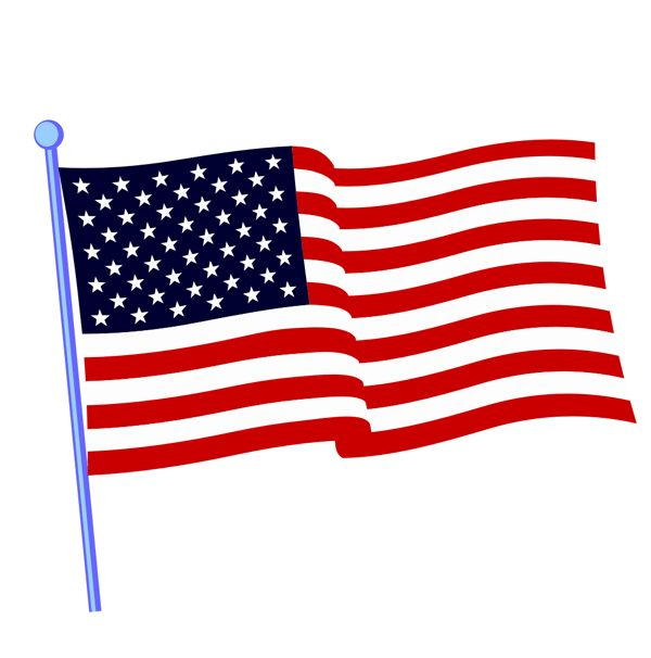 American Flag clipart colonial Clip flag clipart of 36KB