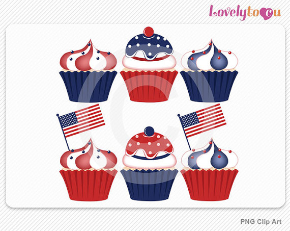 American Flag clipart cupcake Celebration of Day flag Independence