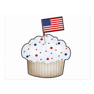 American Flag clipart cupcake Of Zazzle American postcard