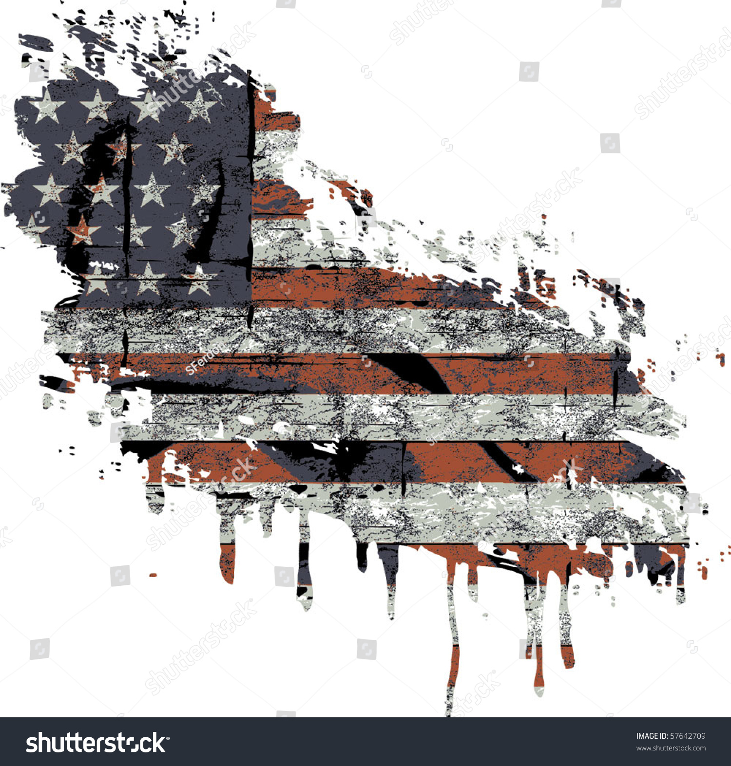 American Flag clipart distressed American flag Flag clipart collection