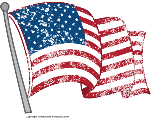 American Flag clipart distressed Click Clipart to Free Image