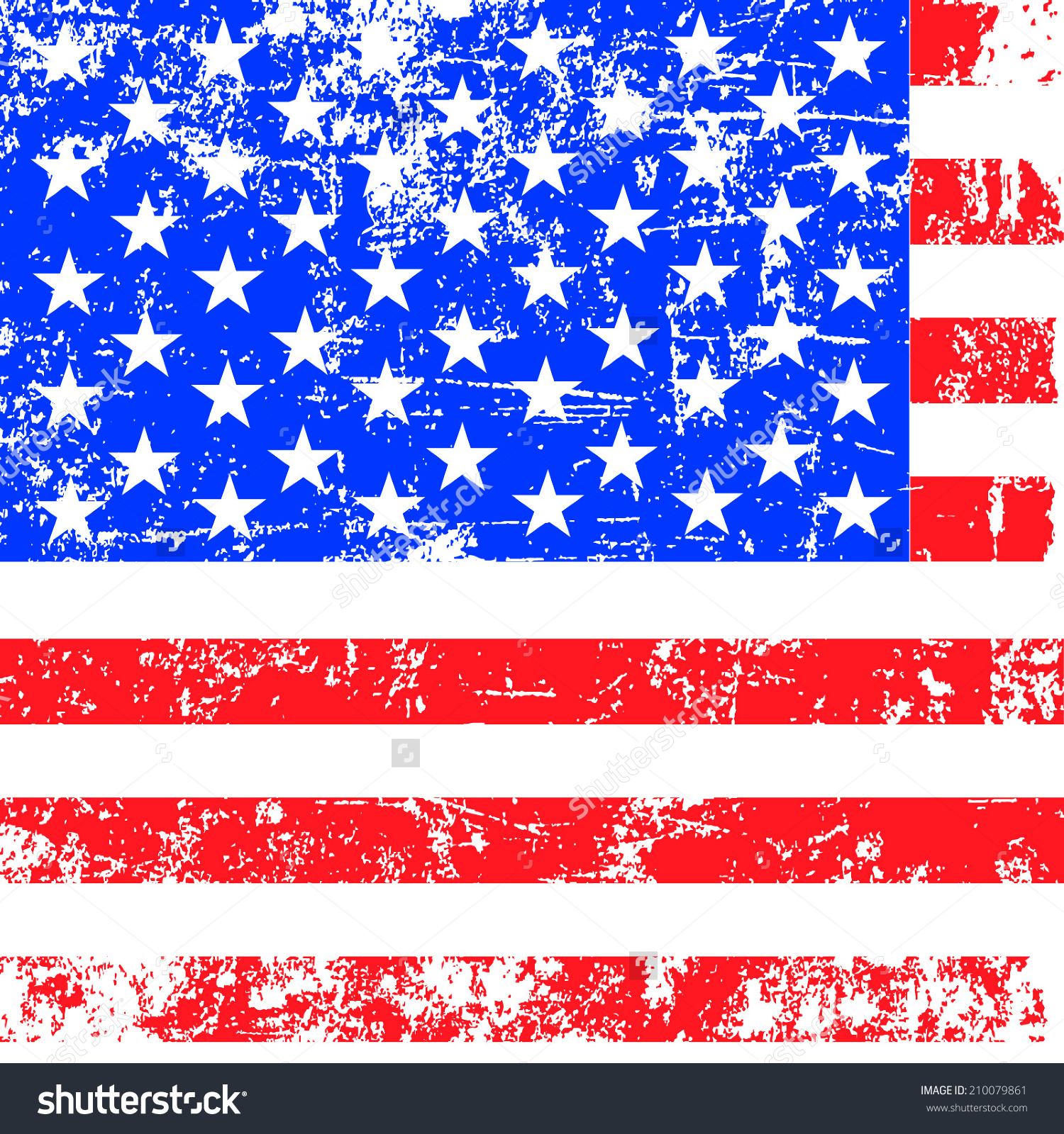 American Flag clipart distressed American flag Flag clipart Vector