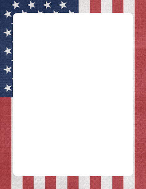 American Flag clipart divider On Border PDF and flag