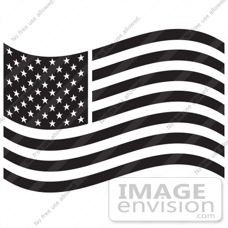 American Flag clipart flower Black White Royalty collection wave