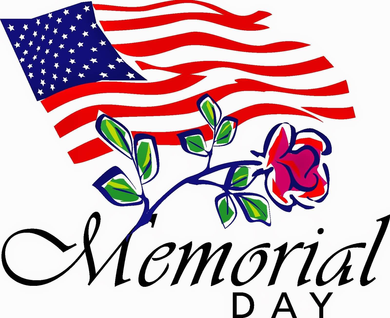 American Flag clipart flower Day Flower  Flag Rose