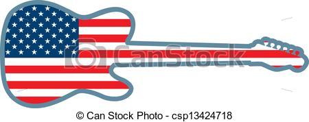 American Flag clipart guitar American Art Guitar An Vector