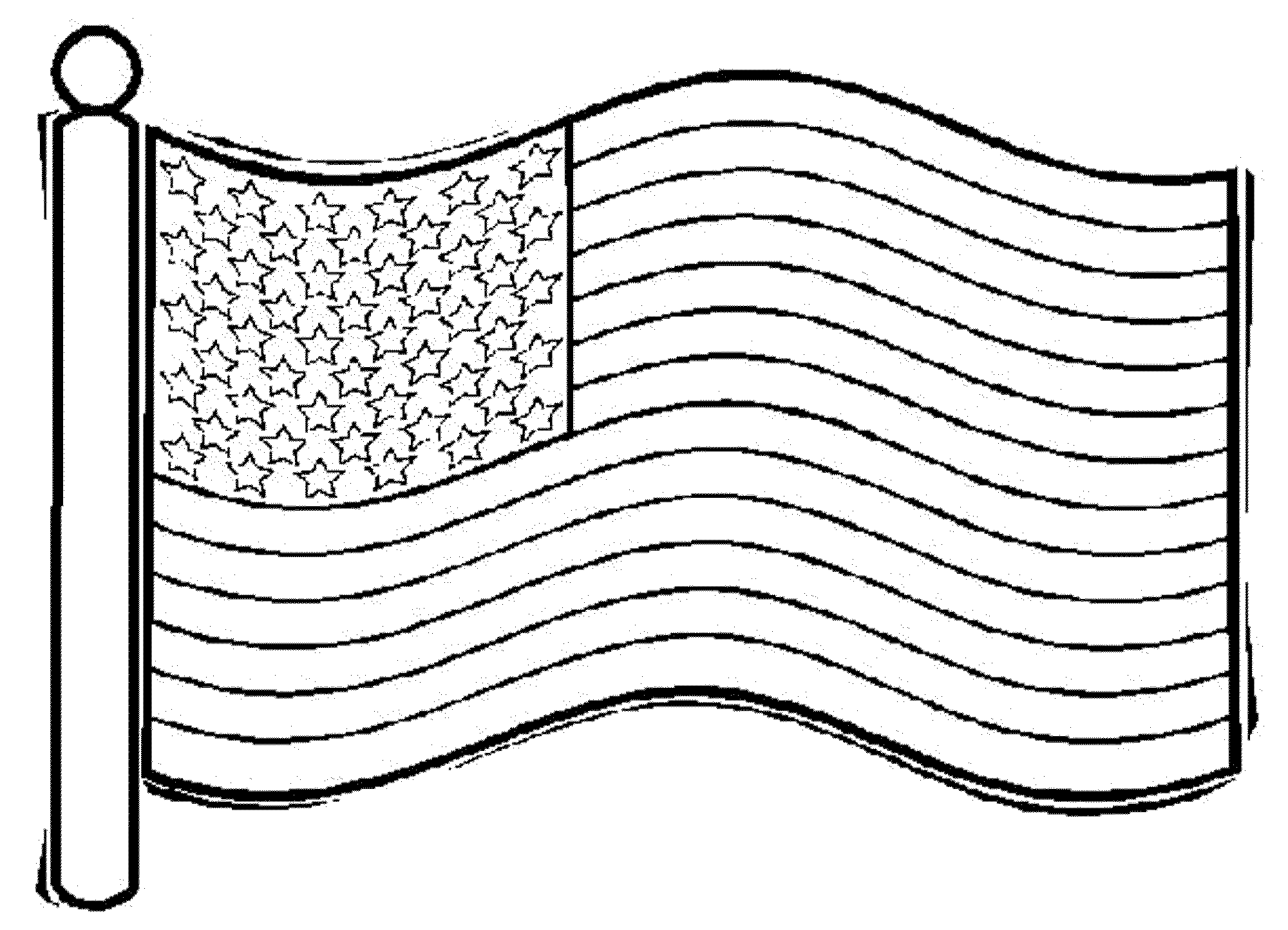 American Flag clipart original Coloring Save As page Original