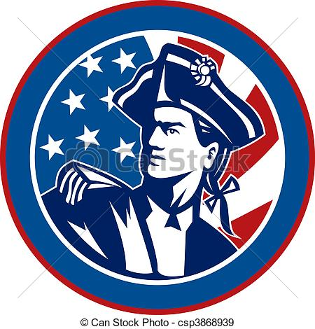 American Flag clipart patriot soldier Circle American soldier flag csp3868939