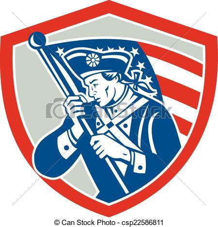American Flag clipart patriot soldier Soldier Soldier Vector Waving