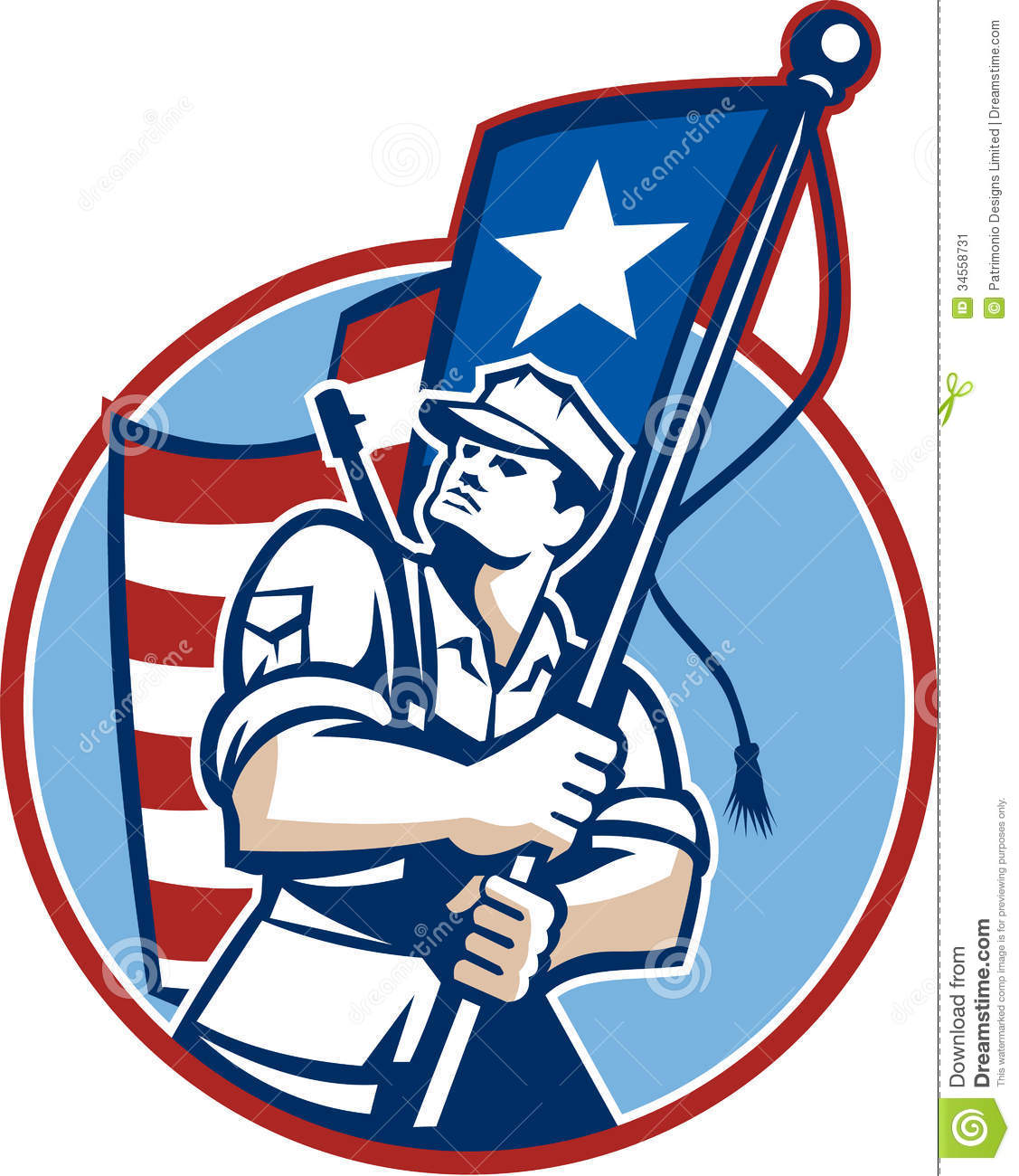 American Flag clipart patriot soldier Serviceman soldiers flag for Patriot
