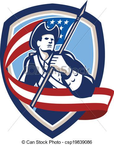 American Flag clipart patriot soldier Flag Soldier Vector Shield