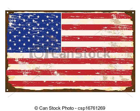 American Flag clipart rustic Of Art American Vector American