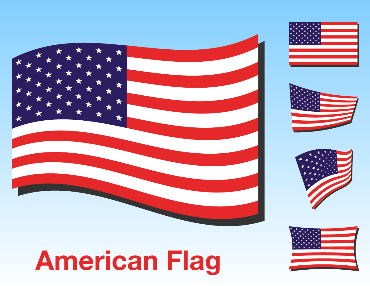 American Flag clipart simple Flag american vector clipart Clipart