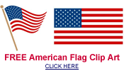 American Flag clipart small Vintage » Crafts Art flag