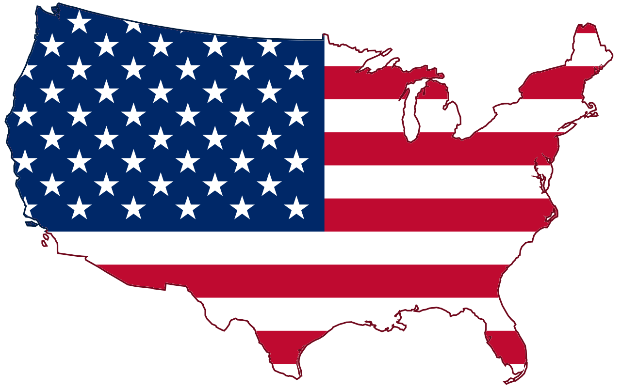 American Flag clipart texas 4340  Vector Map Us