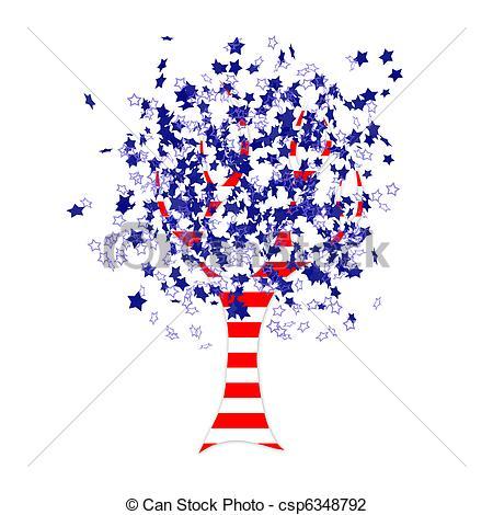 American Flag clipart tree Illustration in flag tree tree