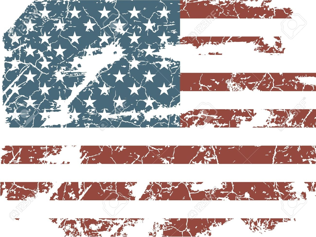 American Flag clipart worn Flag collection flag clipart american