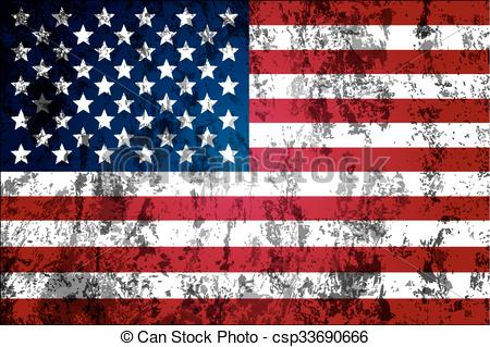 American Flag clipart worn Worn the Vector Clip worn