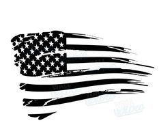 American Flag clipart worn Car Ford Rustic Decal Decal