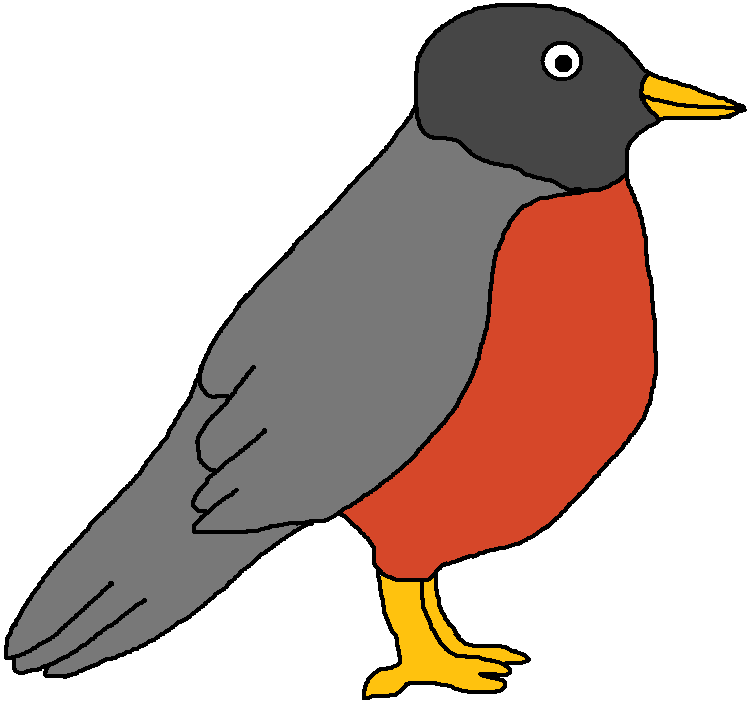 Drawn robin sparrow Free Clipart Images Art Clip