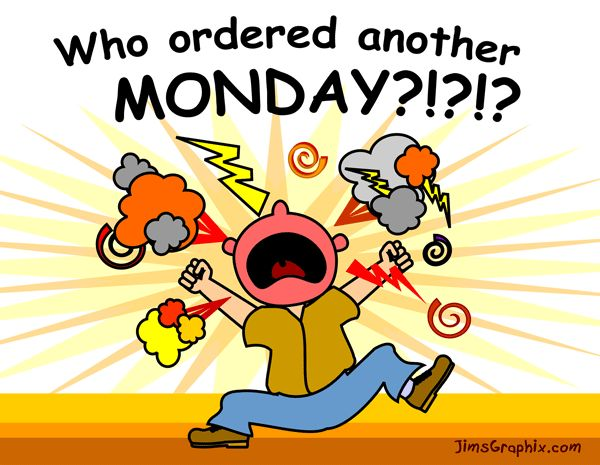 Amonday clipart Who Angry Funny shouting Monday
