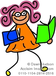 Amonday clipart i love Reading A Girl of Image