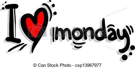 Amonday clipart i love  csp13967977 monday Creative Love