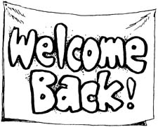 Amonday clipart welcome back Back Free Welcome To To