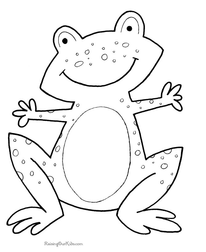 Amphibian clipart coloring page Coloring page to and 464