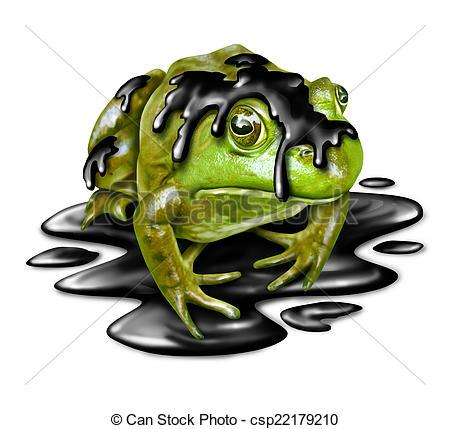 Amphibian clipart fauna Fauna Polluted and  oil