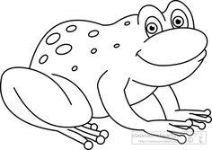 Amphibian clipart outline Cartoon clipart 914  jpg