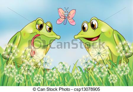 Amphibian clipart two frog Butterfly frogs The and